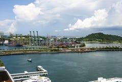 Widok port morski, Singapur Zdjęcie Stock