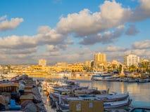 Widok port opona, Liban zdjęcia royalty free