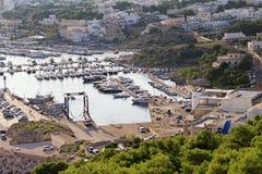 Widok port Santa Maria Di Leuca, Puglia, Włochy fotografia stock
