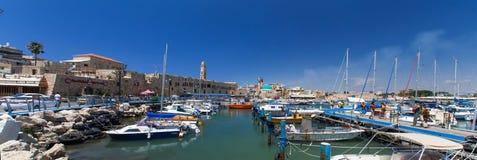 Widok port Stary Akko Akko Izrael Obrazy Royalty Free