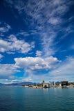 Widok port w Peschiera Del Garda na Jeziornym Gardzie Fotografia Royalty Free