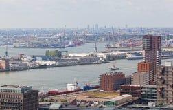 Widok port w Rotterdam Zdjęcia Stock
