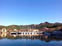 Widok Porto Azzurro, Włochy Obraz Stock