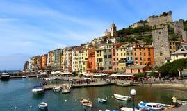 Widok Porto Venere, Liguria, Włochy Zdjęcie Stock