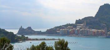 Widok Porto Venere, Liguria, Włochy Obrazy Stock