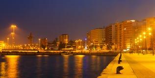 Widok portowa strona przy Algeciras fotografia stock