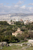widok powietrznej Athens Zdjęcia Stock