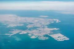 widok powietrznej Bahrain Fotografia Royalty Free