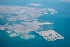 widok powietrznej Bahrain Obraz Stock