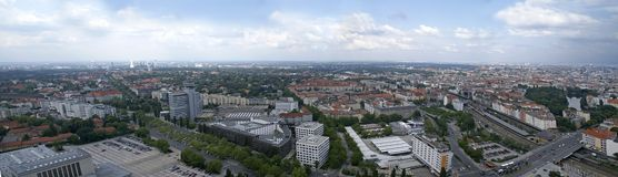 widok powietrznej Berlin Zdjęcie Stock