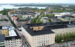 widok powietrznej Helsinki Zdjęcia Royalty Free