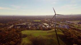 widok powietrzny turbinowy wiatr zbiory