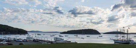 Widok Prętowy schronienia Maine ` s nabrzeże Obraz Royalty Free