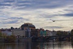 Widok Praga bulwar od Charles mosta Zdjęcie Royalty Free
