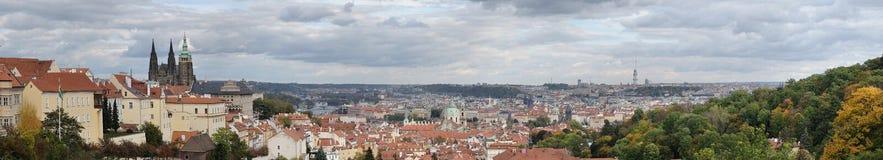 Widok Praga kasztel antyczny Praga i Obraz Stock