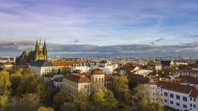 Widok Praga kasztel, Czechia obrazy stock