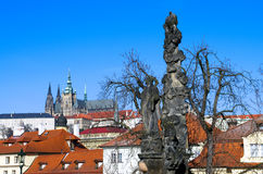 Widok Praga kasztel od Charles mosta Obrazy Stock