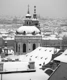Praga w zimie Zdjęcie Royalty Free