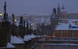 Praga w zimie Zdjęcia Royalty Free