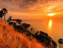 Widok Promthep przylądek w zmierzchu, Tajlandia zdjęcia royalty free