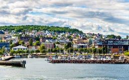 Widok promu terminal przy Horten, Norwegia - Obraz Royalty Free