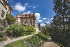 Widok Pruhonice kasztelu republika czech zdjęcia royalty free