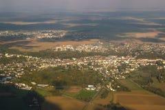 widok przedmieścia powietrznej miast Fotografia Stock