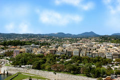 Widok przegapia starego miasteczko panoramy stary miasteczko Fotografia Royalty Free