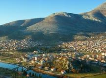 Widok przegapia Trebinje miasto; Bośnia i Herzegovina zdjęcia royalty free
