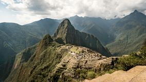 Widok Przegrany Incan miasto Mach Picchu blisko Cusco, Peru Fotografia Stock