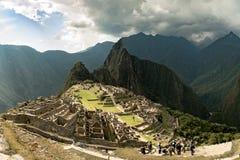 Widok Przegrany Incan miasto Mach Picchu blisko Cusco, Peru Obraz Stock