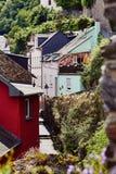 Widok przesmyk brukował ulicznych i średniowiecznych domy Fotografia Royalty Free