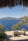 Widok przez Śródziemnomorskiego Fotografia Royalty Free