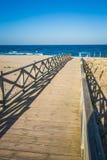 Widok przez drewnianego footbridge, Los Angeles Linea De Los angeles Concepcion, Costa Zdjęcia Stock