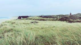 Widok przez nabrzeżne diuny Obrazy Royalty Free