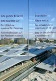 Widok przez nowego Wiedeńskiego głównego dworzec Zdjęcia Stock