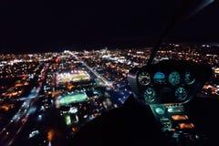 Widok przez przedniej szyby helikopter nad los angeles Zdjęcia Stock