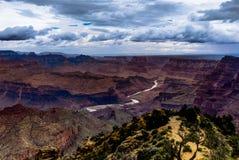 Widok przez Uroczystego jaru Południowego obręcz Arizona fotografia royalty free