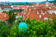 Widok przy środkową częścią Praga fotografia royalty free