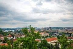 Widok przy środkową częścią Praga zdjęcia stock