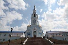 Widok przy świątynią Kazan ikona matka bóg w Saransk, Repulic Mordovia Zdjęcia Royalty Free