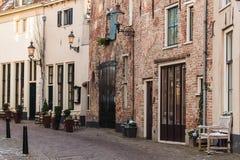 Widok przy antycznym Holenderskim miastem Deventer Zdjęcie Royalty Free