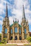 Widok przy bazyliką święty Dunstant w Charlottetown, Kanada - zdjęcie stock