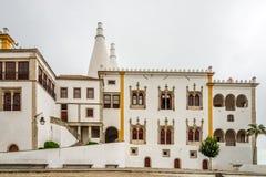 Widok przy budynkiem pałac obywatel w Sintra, Portugalia zdjęcia stock