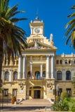 Widok przy budynkiem urząd miasta w Malaga, Hiszpania Zdjęcie Royalty Free