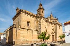 Widok przy churh klasztorem Descalzas w Carmona, Hiszpania Zdjęcia Stock