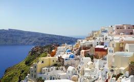 Widok przy Greckim wyspa na morzu egejskim, Santorini Fotografia Stock