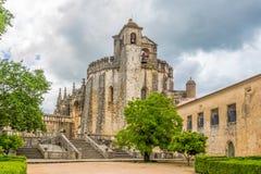 Widok przy grodowym klasztorem Chrystus w Tomar, Portugalia Obrazy Royalty Free