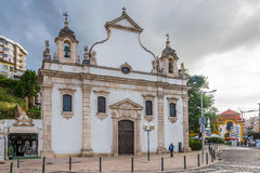 Widok przy kościół Espirito Santo w Leiria, Portugalia - Obraz Stock
