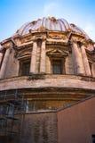 Widok przy kopułą Tiber i St Peter katedra Zdjęcia Royalty Free